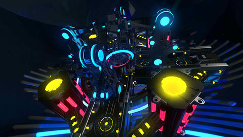4k-VJ Cosmic Multicolor Abstract12 Stock Video Footage
