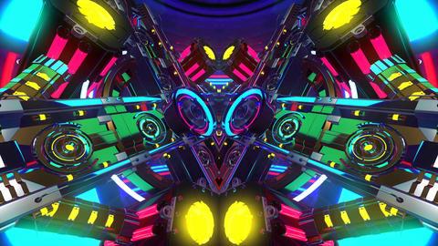 4k-Colorful Disco Kaleidoscope Background2 Animation