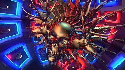 4k-Skull abstract vj background4 Footage