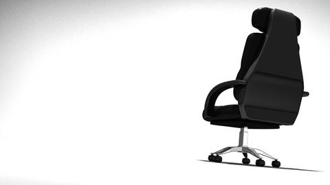 Business Chair On White Text Space CG動画