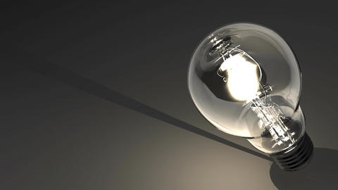 Close Up Of Electric Bulb On Black Text Space CG動画素材