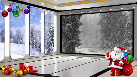 Christmas TV Studio Set 24 Virtual Background Loop ライブ動画