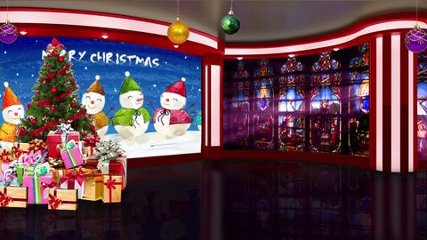 Christmas TV Studio Set 26 Virtual Background Loop ライブ動画