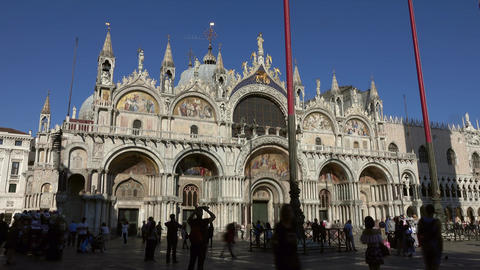 Tourists in Piazza San Marco in Venice, Italy Footage