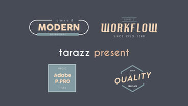 7 Titles Motion Graphics Template