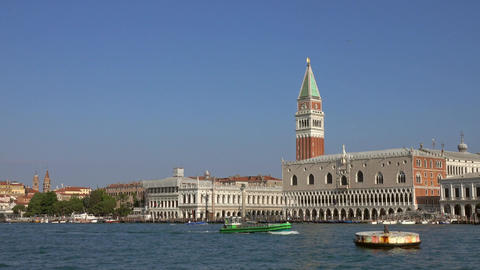 Doge's palace on Piazza di San Marco in Venice Footage