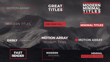 55 Titles Pack After Effects Templates