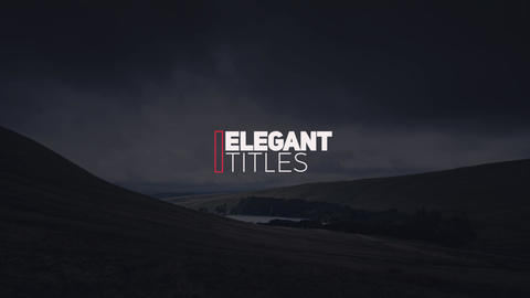 Elegant Modern Titles After Effects Template