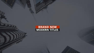 Orange Modern Titles After Effects Templates