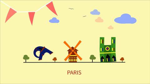 PARIS CG動画素材