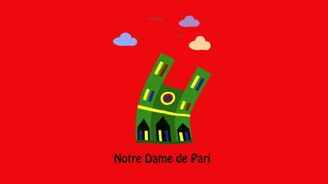 Notre Dame de Paris CG動画素材