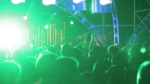 Crowd on music festival Stock Video Footage