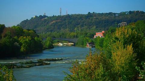 the Tiber River in Rome 画像