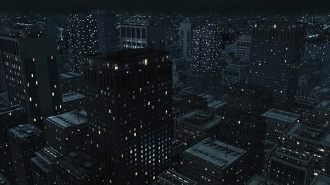 Big City Dark Night Animation