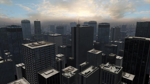 Big City Soft Sunset Animation