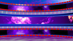 Circular background with lattice purple blue. 3d rendering CG動画素材
