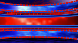 Circular background with lattice red blue. 3d rendering CG動画素材