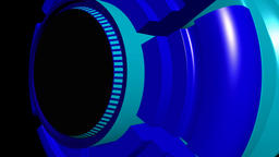 Fiction background with rotating cylinder cyan blue CG動画素材