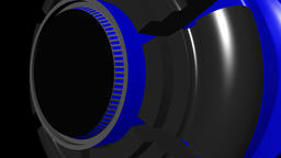 Fiction background with rotating cylinder gray blue CG動画素材