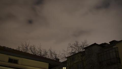 City Night Sky Clouds Timelapse 4K Footage