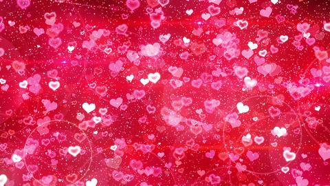 Rebound particle heart rd CG動画