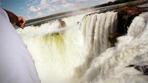 Devil's Throat in Iguazu Falls Footage