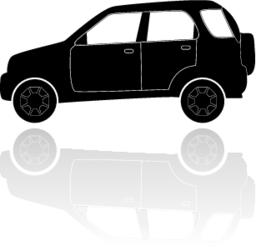 A silhouette of a car ベクター