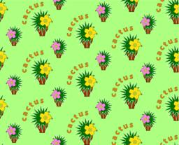 Seamless background with cactus ベクター