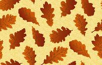 Seamless background with oak leaves Vector
