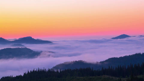 Misty Morning in the Mountains Footage
