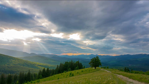 Sunset Sky in the Mountains Footage