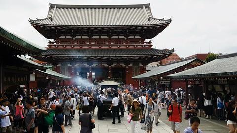 Tokyo, Japan Senso - ji Buddhist temple in Asakusa Image