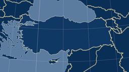 Turkey and neighborhood. Solids Animation