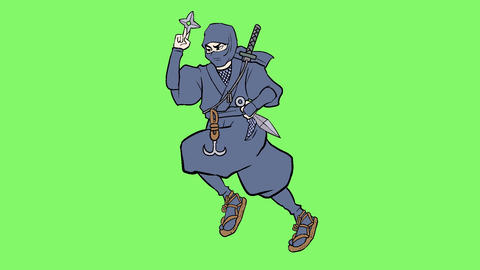 Ninja action 005 revise CG動画