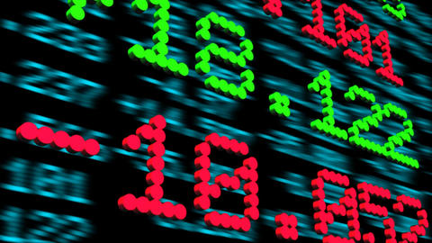 Display of Stock Exchange Animation