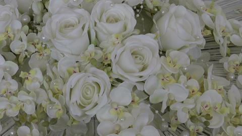 wedding white rose bouquet floral florist composition Archivo