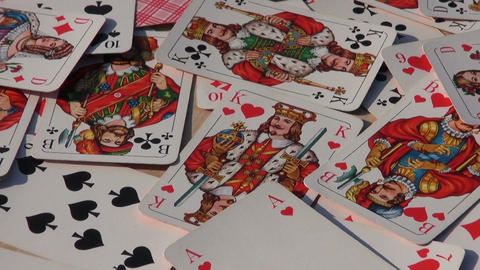 various playing card background rotating Stock Video Footage