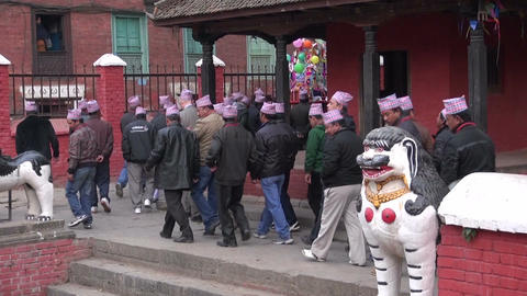 Wedding festival fragment, December 18, 2013, Katmandu, Nepal Footage