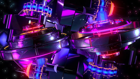Retro VJ abstract multicolored animated11 Animation