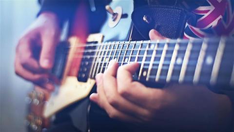Guitarist Playing Filmmaterial