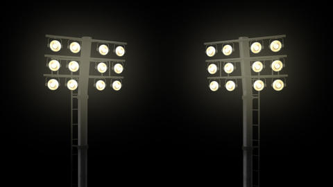 Stadium floodlights with alpha channel Filmmaterial