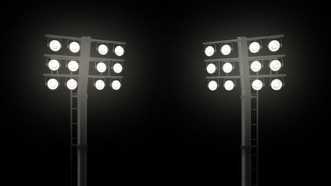 Stadium floodlights with alpha channel Animation