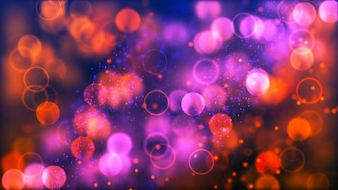 Loopable Abstract Background with nice purple and orange bokeh for club visuals Animation