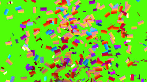Confetti Explodes and Freezes on the Screen Animation