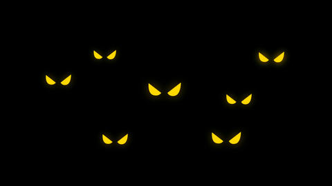 Evil eyes in the dark for Halloween Animation