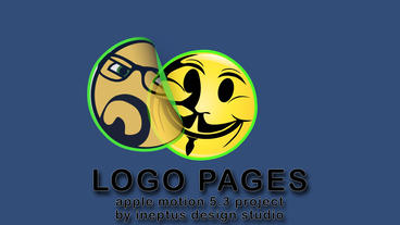 Logo pages Apple Motionテンプレート