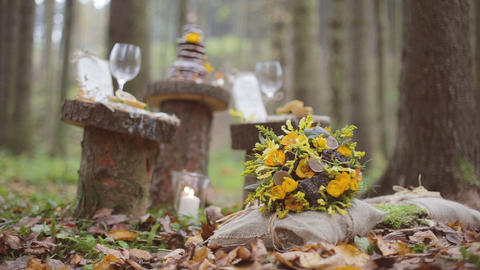 Eco forest wedding bridal bouquet Live Action