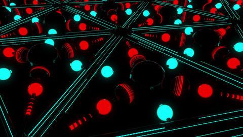 Neon Spheres VJ Loop 3 Animation