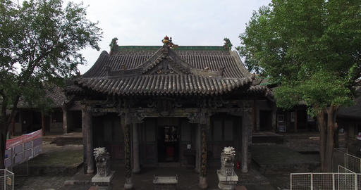 Aerial of Chinese ancient architecture ビデオ