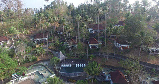 Aerial of tropical bay ビデオ